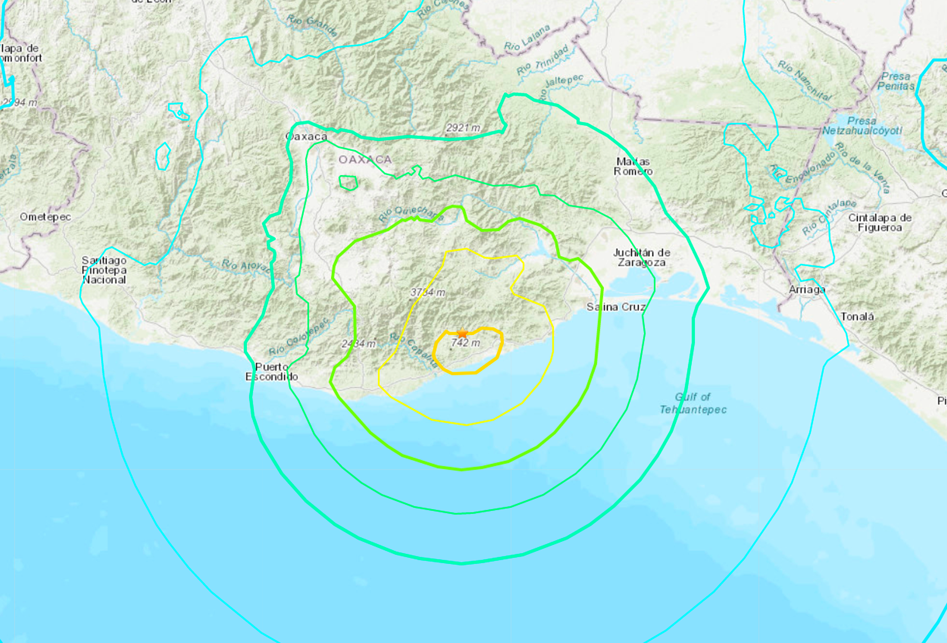 Earthquake Of Magnitude 7.4 In Mexico